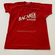 Vintage 80s Bacardi Rum Coca Cola T-shirt Size M Screenstars Made In Usa