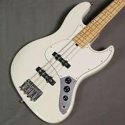 Three Dots Jb Model Maple Olympic White Used Made In Japan W/soft Case