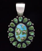Sonoran Rose And Sonoran Mountain Turquoise Cluster Pendant By Kathleen Chavez