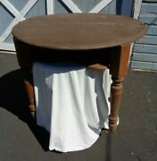 Antique Card Poker Table Wood - Compartment To Hide Cards - Pick Up Nj Only