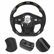 For Carbon Fiber Led Lights Display Steering Wheel Replacement For Gr A90 2020+
