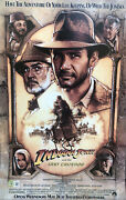 Harrison Ford Signed 12x18 Photo Indiana Jones The Last Crusade Poster Beckett