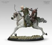 Sideshow Weta Lord Of The Rings Legolas Gimli On Arod Statue Sold Out 13/5000