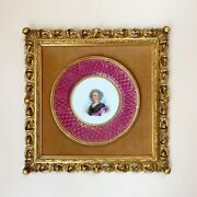 ❤️beautiful Antique Collectors Hand Painted Plate - Marie Antoinette - Framed