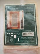 Nos Heritage Lace 9700e-4872dp Heirloom Pattern 48and039and039 X 72and039and039 Door Panel Ecru Nip