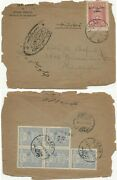 Turkey In Asia 1922 Foreign Rate Ankara And Ottoman Stamps Mixed Franking Cover