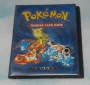 Pokemon Trading Card Collectors Album 1999 Wizards Of The Coast W/ 49 Cards