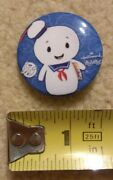Stay Puft Marshmallow Man 1.5 Button Pin Ghostbusters Hallmark Itty Bittys Sdcc