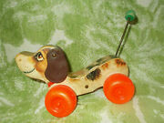 Fisher-price 693 Little Snoopy Wooden Pulling Toy 1965