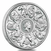 2 Oz. Feinsilber 999 -5 Andpound- Queenandacutes Beasts - Completer Coin 2021 Stgl./bu