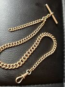 1879 Swain Brothers 375/9ct Solid Gold Watch Chain Stamped On Every Link 42.5g