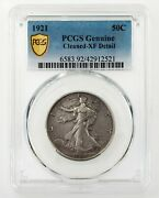 1921 50c Walking Liberty Half Dollar Graded By Pcgs As Xf Detail - Cleaned Nice