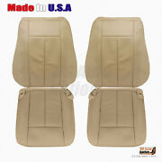 2007 - 2014 Ford Expedition Driver Passenger Perforated Leather Seat Cover Tan