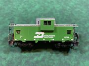 Ho Scale - Athearn Bn Burlington Northern - Wide Vision Caboose - Green