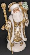 Wow Exquisite Hand Carved And Hand Painted Wooden Santa Claus W/toy Sack 6612
