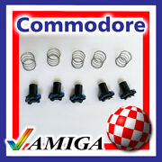 5 Pcs Commodore Amiga A500 Keyboard Replacement Black Plungers