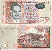 Mauritius Banknote 500 Rupees - P.58a 2001 Unc