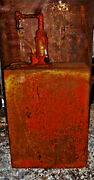 Lubester Style--oil Tank With Hand Crank Pump--vintage