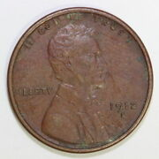 Us 1912 S Lincoln Wheat Cent Penny Scc2/113