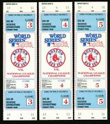 1986 World Series Games 3 4 5 Full Tickets Mets Red Sox Fenway Park 3 Count Lot