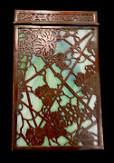 Studios New York Early Bronze Favrile Glass Grapevine Pattern Note Pad