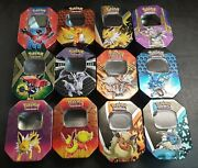 Empty Pokemon Tin Lot Bundle Job Lot Some Old No Cards Good For Card Storage
