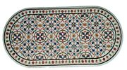 24 X 48 Inches Marbre Cafandeacute Table Haut Multicolore Pierres Inlaid Andicircle Table