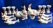 Vintage Ussr Porcelain Easter Set Clownery Clowns Circus Baranovka Soviet 50and039s