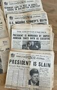 Jfk Death 20 Oh Newspapers 11/19/63 Thru Kennedy Funeral And Warren Comm Report