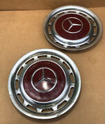 2 Vintage Mercedes Benz Full Wheelcovers For 14 Inch Wheels 60and039s-early 80and039s
