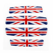 4x Car Door Side Guard Protection Trim Stickers Anti-collision Decal Uk Flag