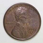 Us 1912 S Lincoln Wheat Cent Penny Scc1/108
