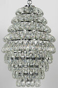 Noir Illumination Metal And Glass Chandelier With Chrome Finish Lamp582cr