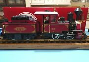 Lgb 2217d Steam Locomotive And Amp Motorized Tender Lights Smoke G Scale Red W/box