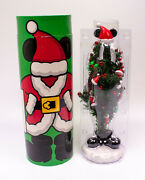 """Disney Parks Mickey Mouse Mailable Christmas Tree With Ornaments 12.5"""" Reusable"""