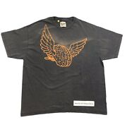 Gallery Dept. Flying Wings Print Washed Black T-shirt Size Xl