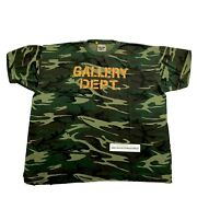Gallery Dept. Distressed Camouflage Print T-shirt Size Xxl