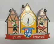 1950 And039s Old Style Heilemanand039s Beer Swiss Chalet Clock Light Bar Sign