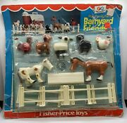 New Fisher Price Vintage Little People Play Family Farm Barnyard Friends Moc