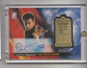 Doctor Who Timeless David Tennant Autograph Medallion Trading Card 02/10