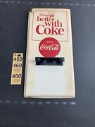 Vintage Coca Cola Things Go Better With Coke Advertising Tin Sign Calendar 1980s