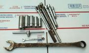Lot 15pc Vintage Williams Usa Mechanic Tools Wrench Sockets Extensions Breaker