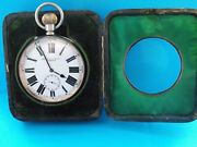 Omega 8 Day Goliath Pocket Watch In Superb Condition Silver Front Case Fwo 1901