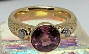 Vintage 18k Yellow Gold And Diamond Ring - Heavy 9.31g - Size M1/2 - Hallmarked