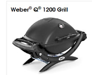 Weber Q 1200 Portable Tabletop Propane Gas Bbq Grill Quick Outdoor Camping Black
