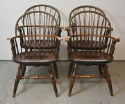 Set Of 4 Windsor Bow Back Windsor Chairs Arm Chairs