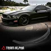 Fits 2013-2014 Ford Mustang Black Front Lower Bumper Face Bar Spoiler Rp Style