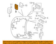 Infiniti Nissan Oem 03-08 Fx45-electrical Fuse And Relay Box 284b7cl00a