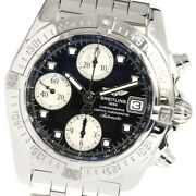 Breitling Chrono Cockpit A13358 Date Black Dial Automatic Menand039s Watch_641640