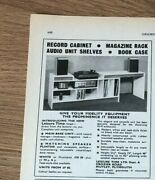 Stgaug1974 Pg448 Advert5x4 Leisure Time Ltd Record Cabinets And Shelving Units